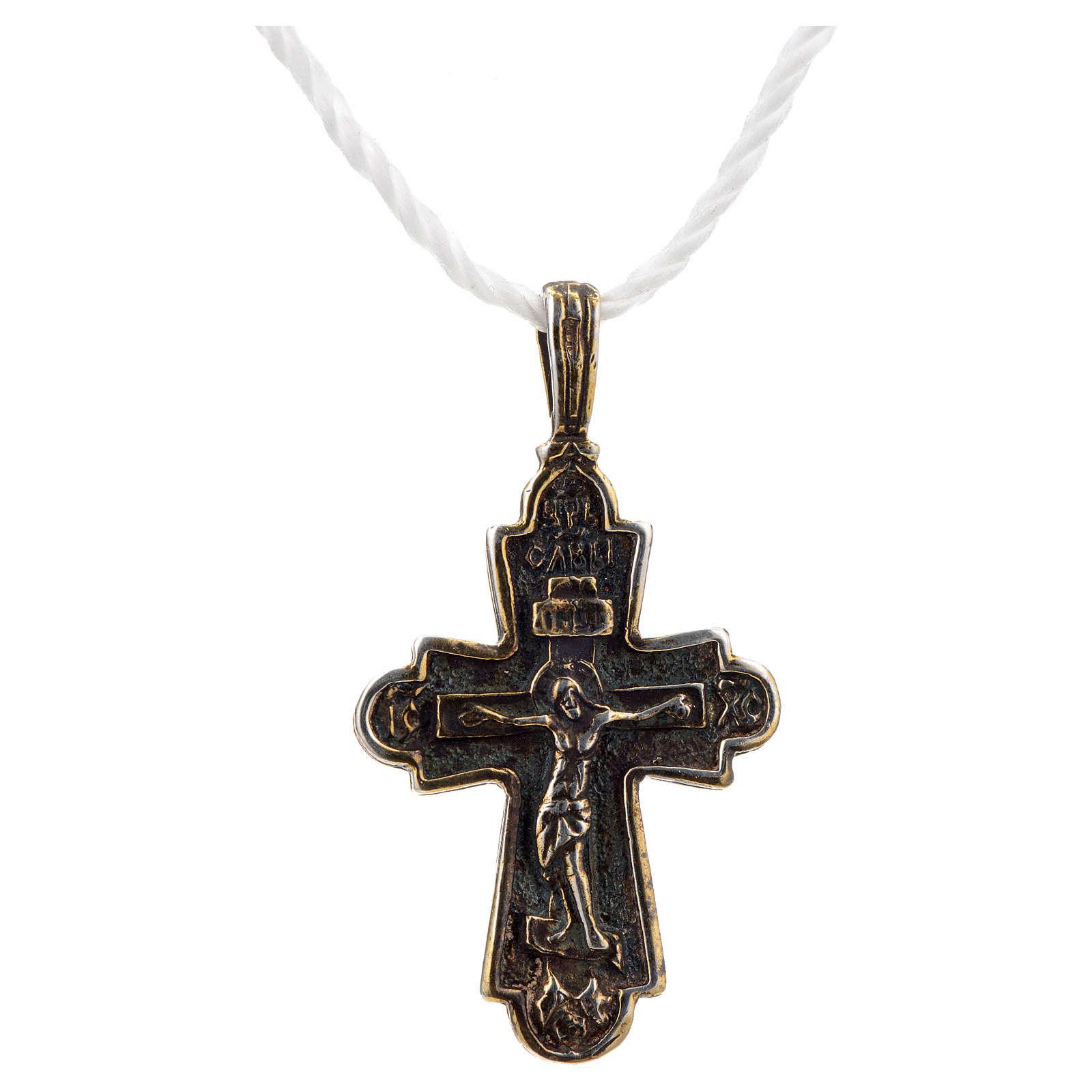 Croce slava in argento 925 4