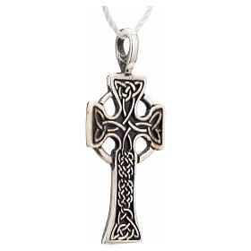 Pendant Celtic cross in sterling silver s4