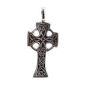 Pendant Celtic cross in sterling silver s1