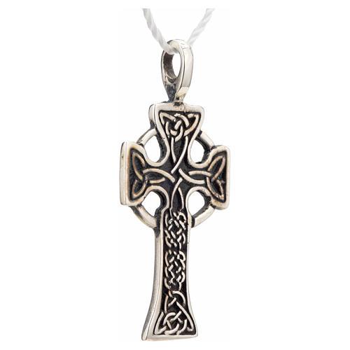 Pendant Celtic cross in sterling silver 4