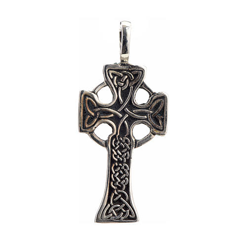 Pendant Celtic cross in sterling silver 1