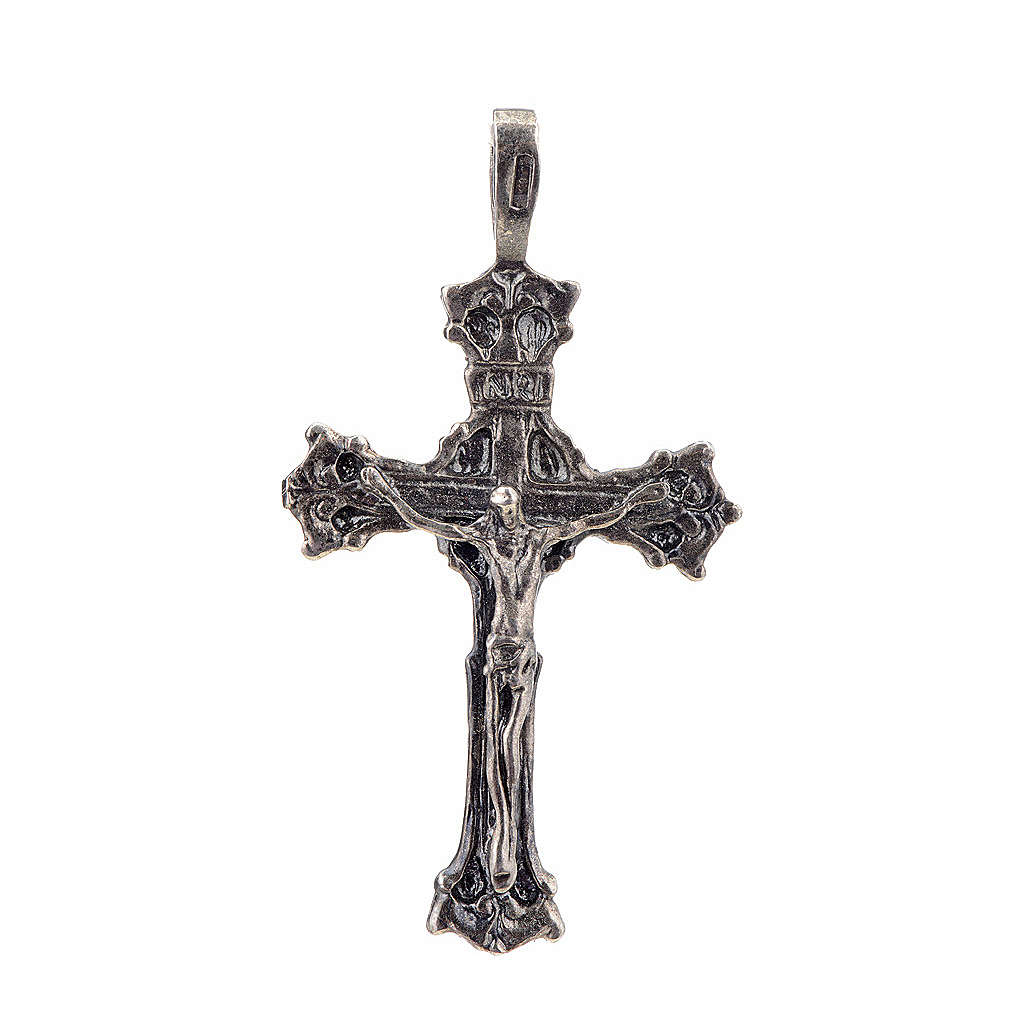 Pendant cross 1700 style in sterling silver 4
