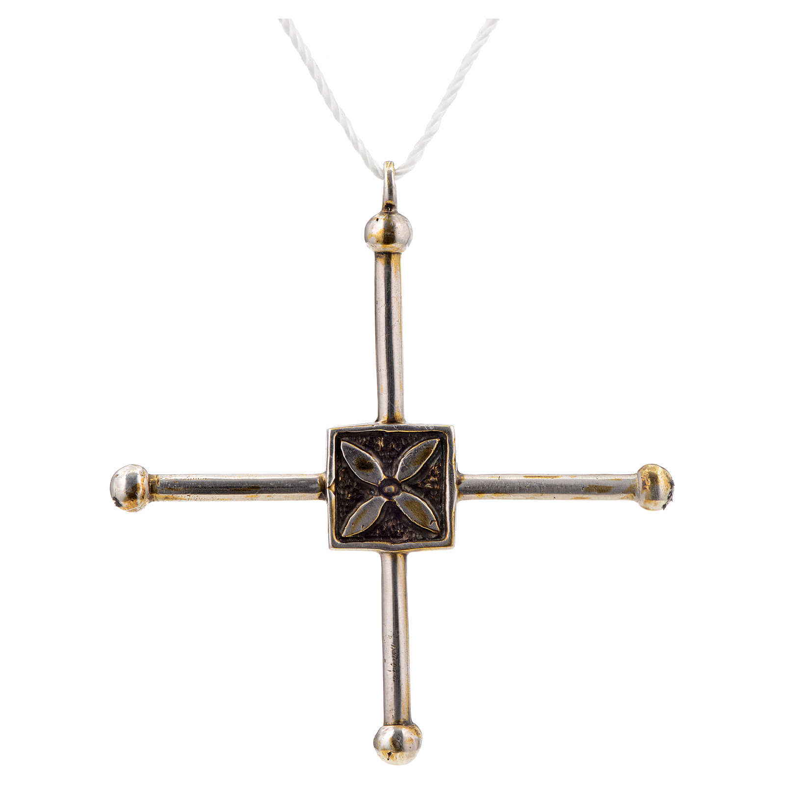 Pendant cross Saint Geminianus in sterling silver 7,2x6,6cm 4
