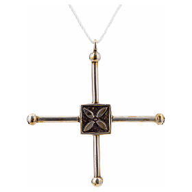 Pendant cross Saint Geminianus in sterling silver 7,2x6,6cm s3
