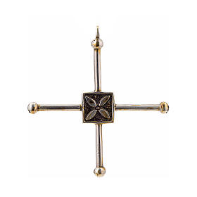 Pendant cross Saint Geminianus in sterling silver 7,2x6,6cm s1