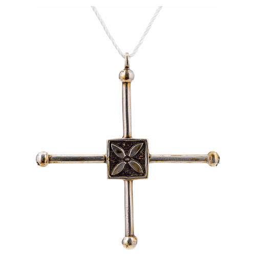 Pendant cross Saint Geminianus in sterling silver 7,2x6,6cm 3