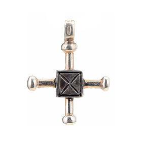 Croce di San Geminiano 2,7x2,2 cm argento 925 s1