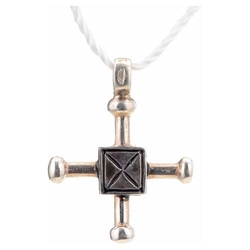 Croce di San Geminiano 2,7x2,2 cm argento 925 3
