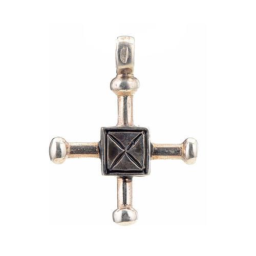 Croce di San Geminiano 2,7x2,2 cm argento 925 1