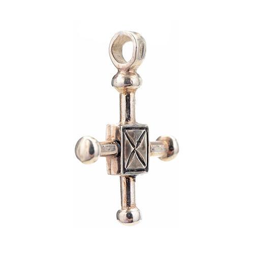 Croce di San Geminiano 2,7x2,2 cm argento 925 2