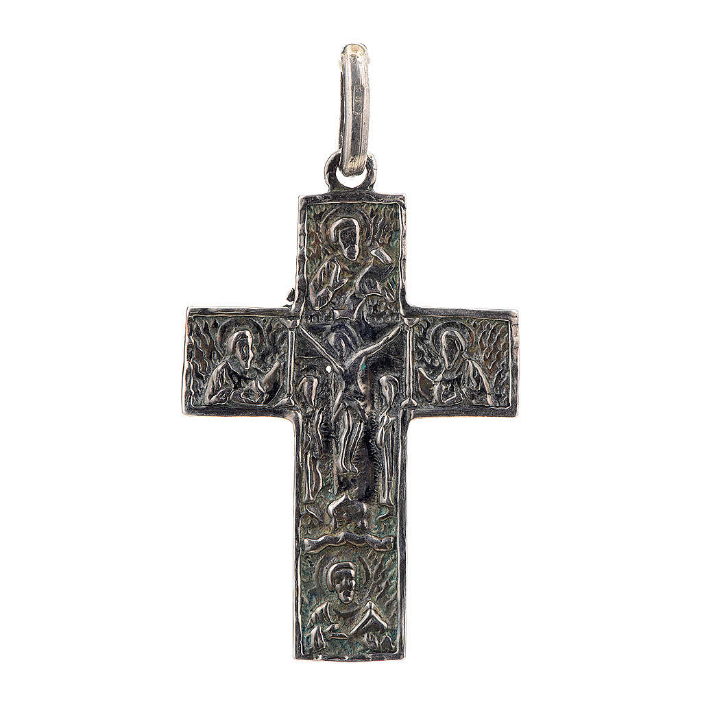 Cruz eslava en plata 925 acabado plateado 4