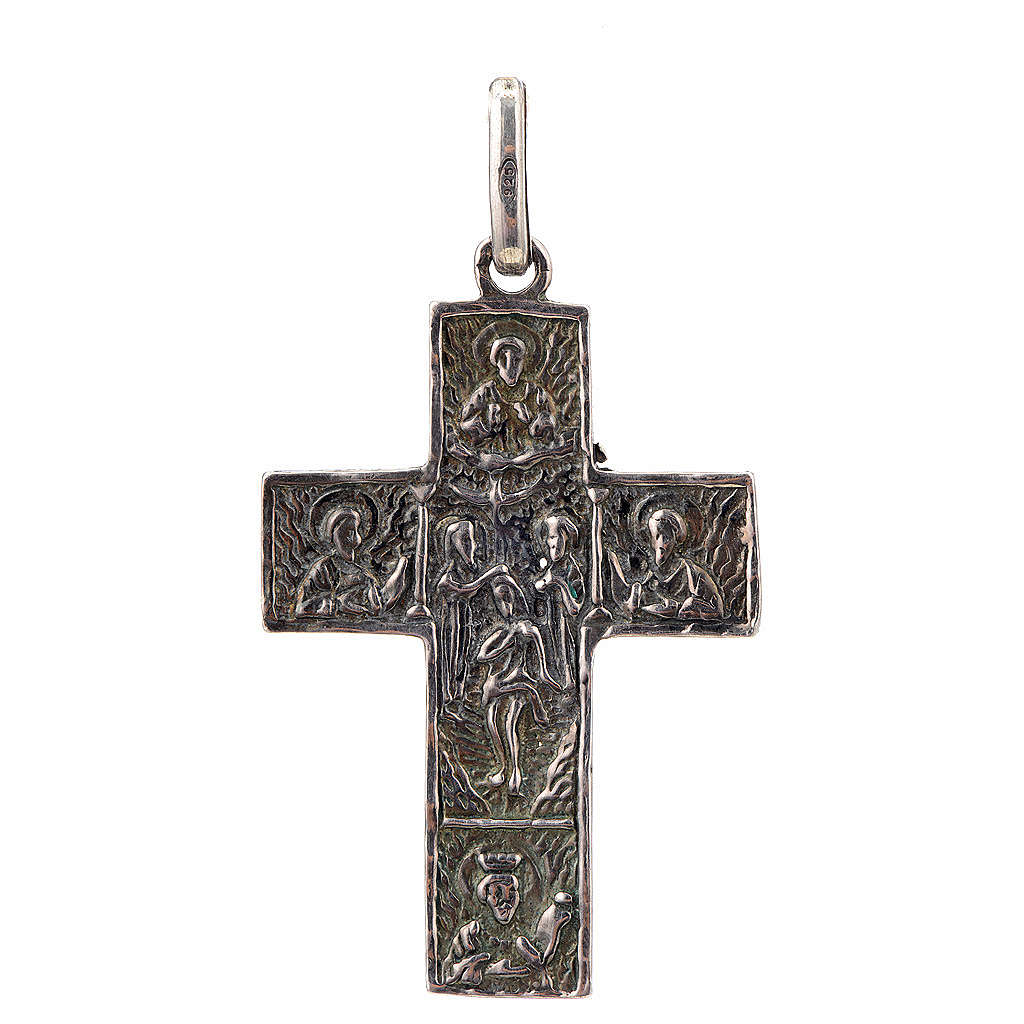Croce slava in argento 925 finitura argentata 4