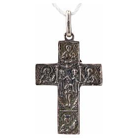 Croce slava in argento 925 finitura argentata s4