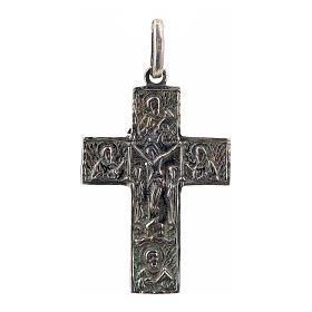 Croce slava in argento 925 finitura argentata s1