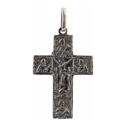 Croce slava in argento 925 finitura argentata 1