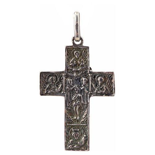 Croce slava in argento 925 finitura argentata 2