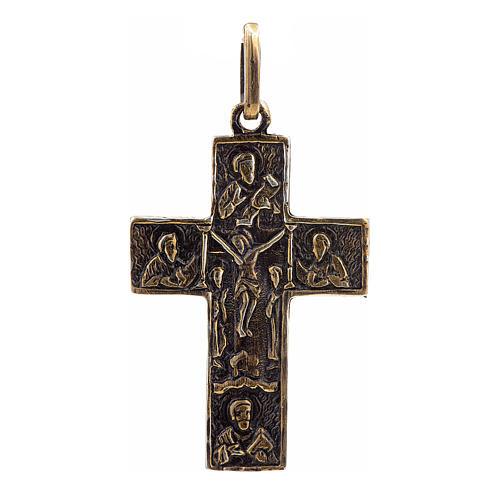 Cruz eslava en plata 925 acabado bronce 1