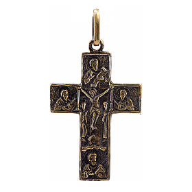 Croix images crucifixion et déposition argent 925 bronze s1