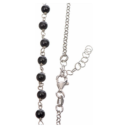 Silver necklace with Tau cross and freshwater pearls, MATER jewe 3