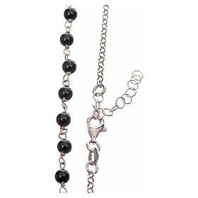 Collar MATER plata 925 perlas negras tau y medalla s3