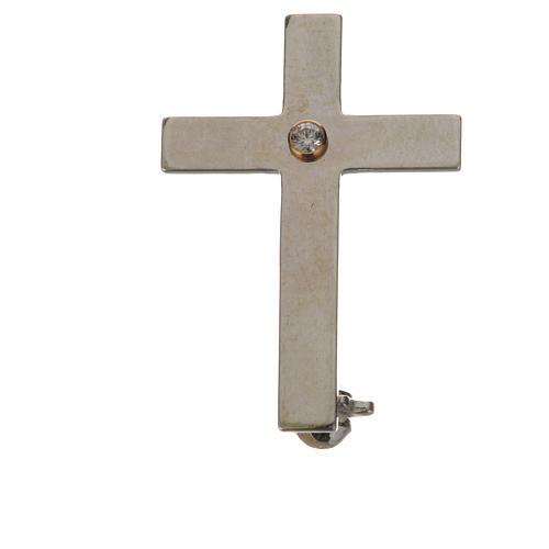 Broche croix clergyman argent 925 1