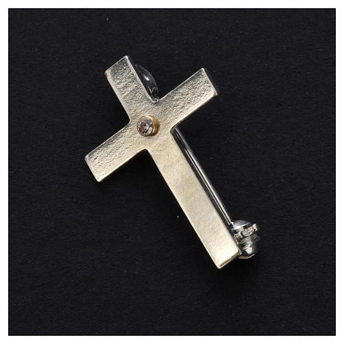 Broche croix clergyman argent 925 2