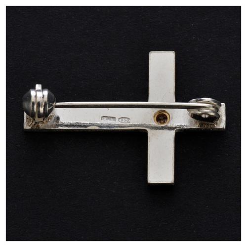 Broche croix clergyman argent 925 3