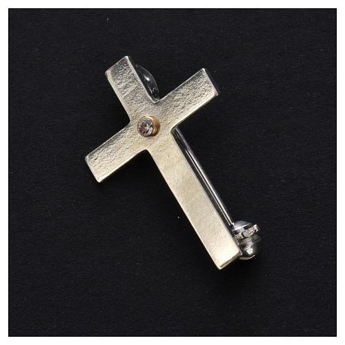 Clergy brooch in 925 silver 2