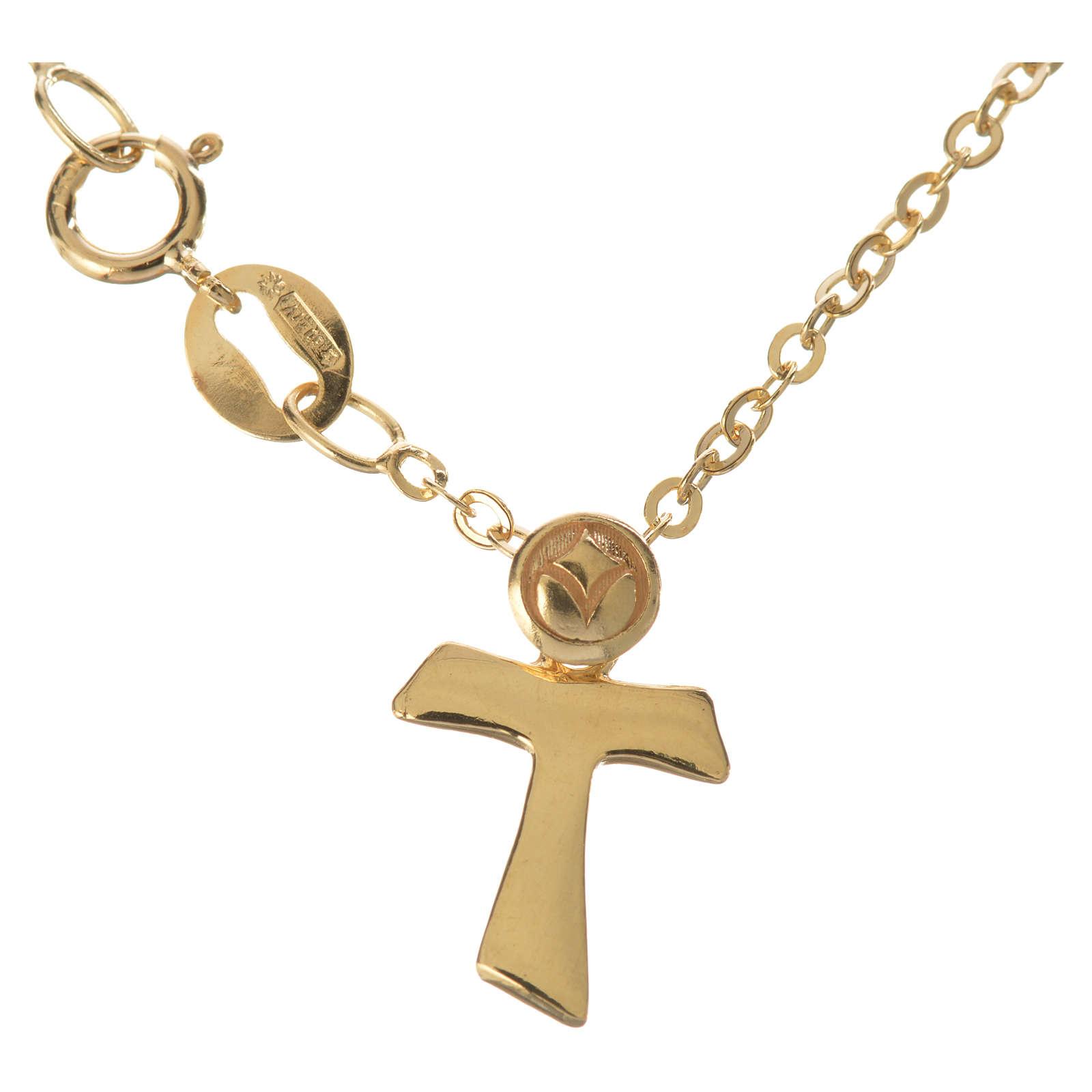 Braccialetto con Tau in oro 750/00 - gr. 1,09 4