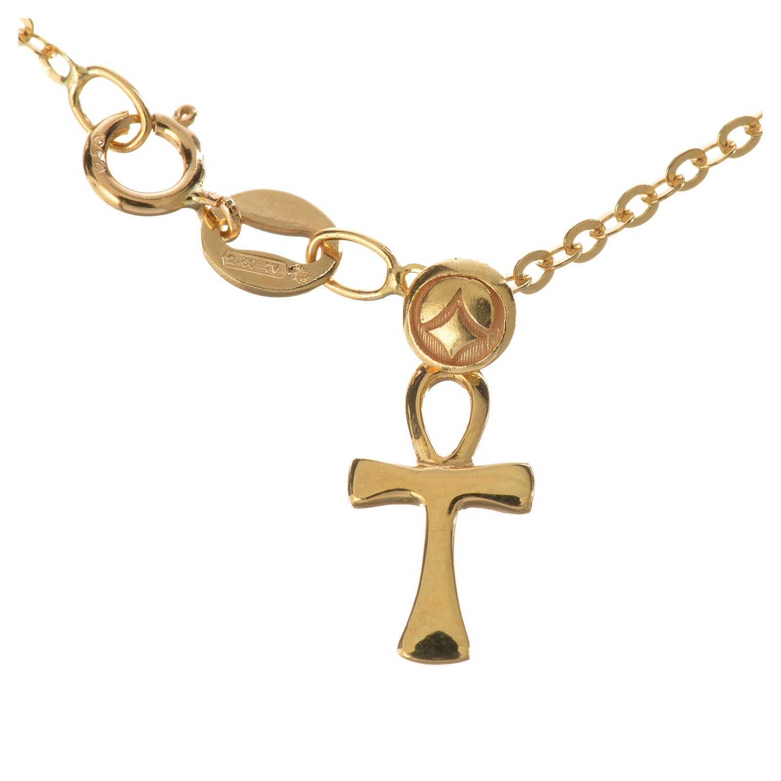 Bracelet with key of life pendant in 18k gold 1,03 grams 4