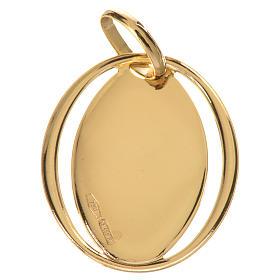 Ciondolo ovale con angelo di Raffaello oro 750/00 - gr.0,66 s2