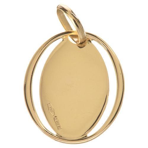 Ciondolo ovale con angelo in preghiera oro 750/00 - gr. 0,72 2