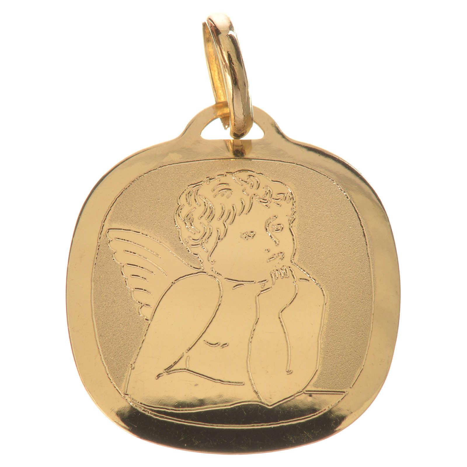 Raphael's cherub pendant in 18k gold 0,92 grams 4