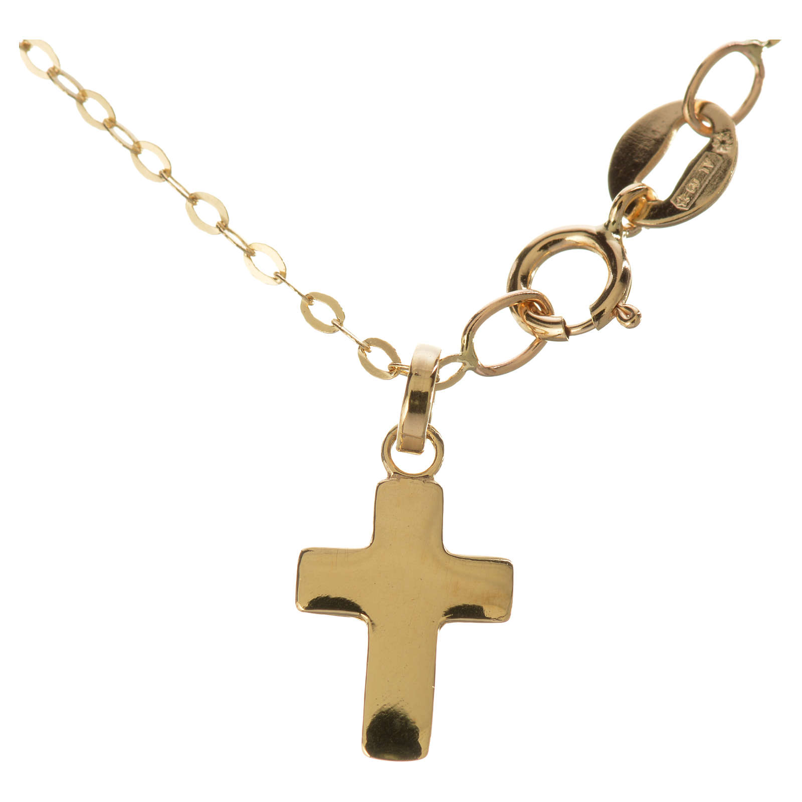 Gold chain with cross pendant, 18k 1,32 grams 4