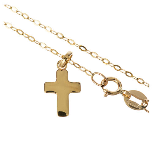Gold chain with cross pendant, 18k 1,32 grams 2