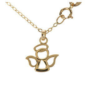 Gold chain with angel pendant in 18k gold 1,42 grams s1