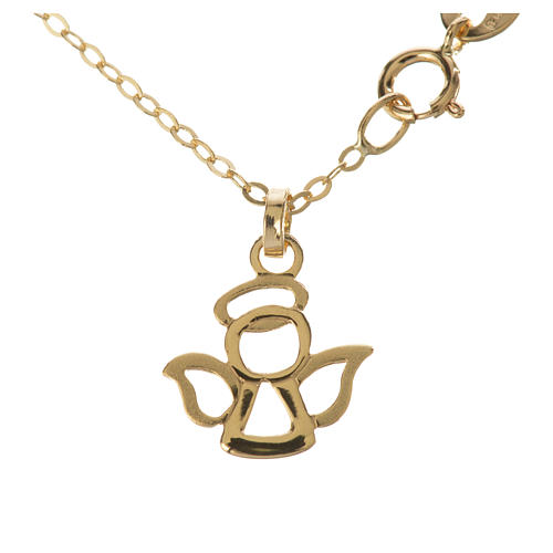 Gold chain with angel pendant in 18k gold 1,42 grams 1