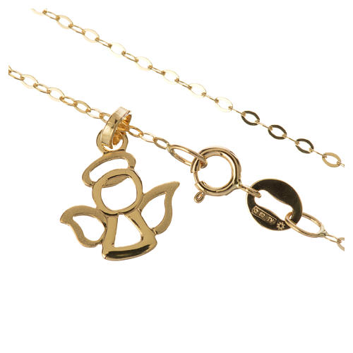 Gold chain with angel pendant in 18k gold 1,42 grams 2