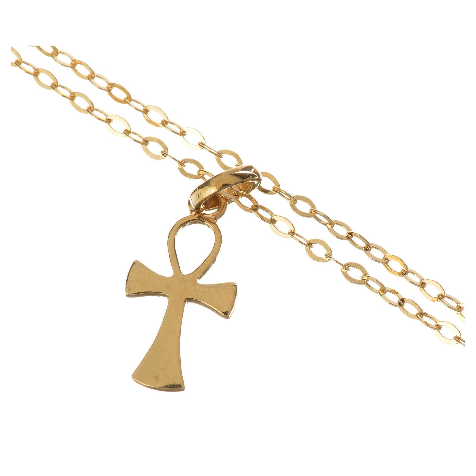 Catenina con croce della vita oro 750/00 - gr. 1,37 4