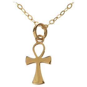 Catenina con croce della vita oro 750/00 - gr. 1,37 s1