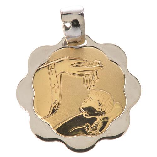 Medaglia battesimo oro 750/00 - gr. 1,48 1