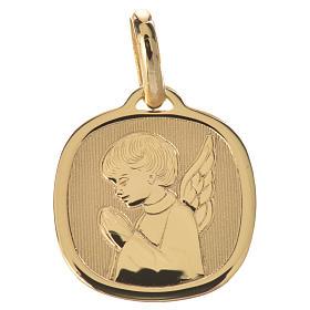 Ciondolo angelo in preghiera oro 750/00 - gr. 1,71 s1