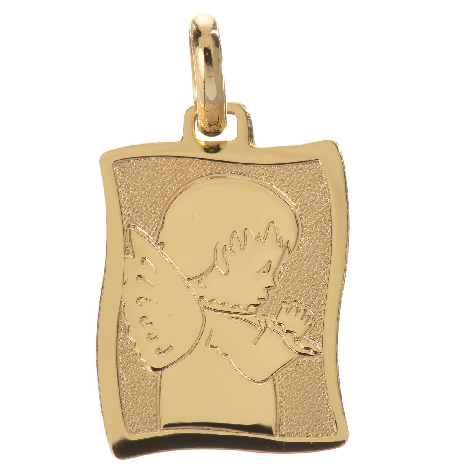 Praying angel pendant in 18k gold 1,63 grams 4