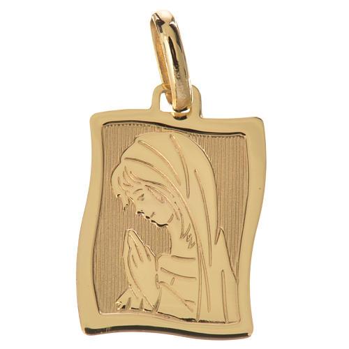 Ciondolo Maria in preghiera oro 750/00 - gr. 1,63 1