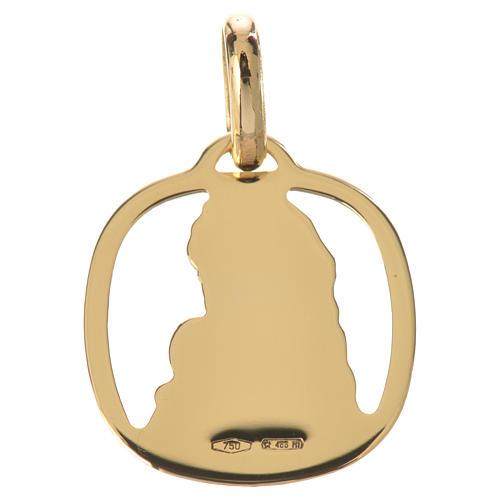 Ciondolo Madonna con bambino oro 750/00 - gr. 1,28 2