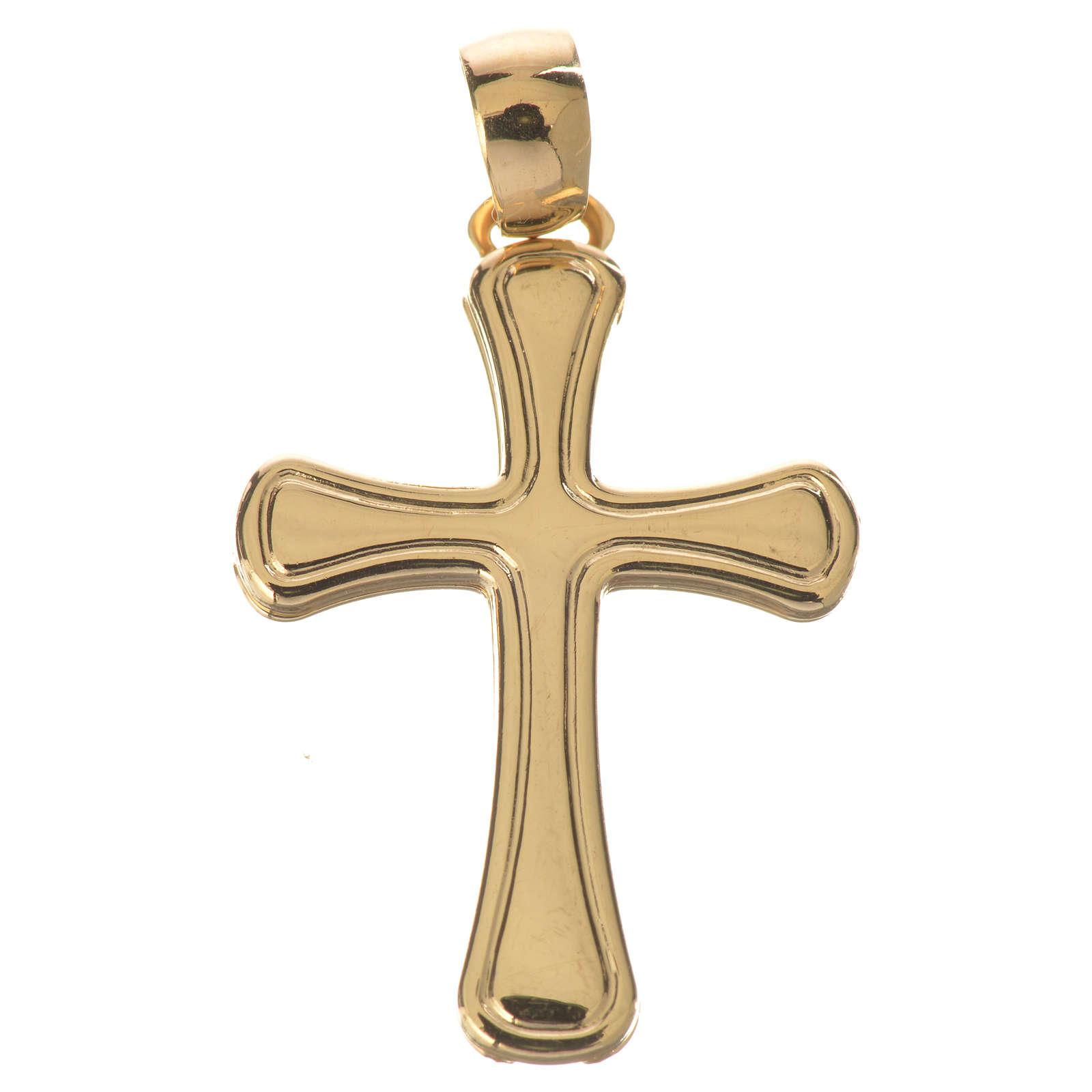 Croce stondata oro 750/00 - gr. 1,47 4