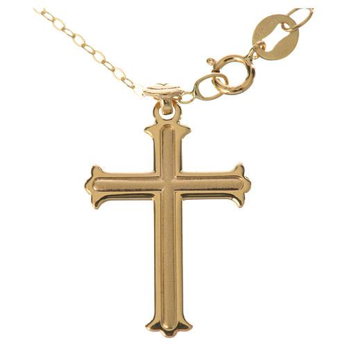 Trefoil cross pendant and chain in 18k gold 1,98 grams 1
