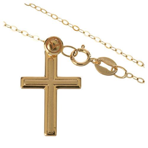 Croce con collana in oro 750/00 - gr. 1,74 2