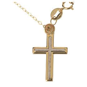 Collana e croce oro 750/00 - gr. 1,74 s1