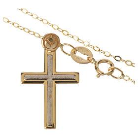 Collana e croce oro 750/00 - gr. 1,74 s2